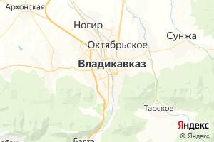 Карта г. Владикавказ Республика Северная Осетия-Алания