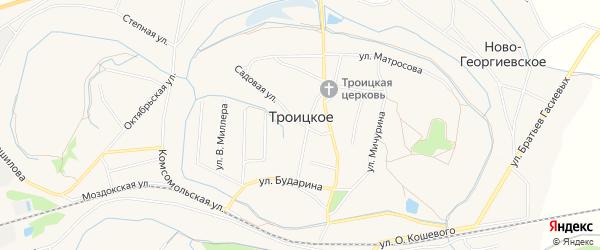 Карта Троицкого села в Северной Осетии с улицами и номерами домов