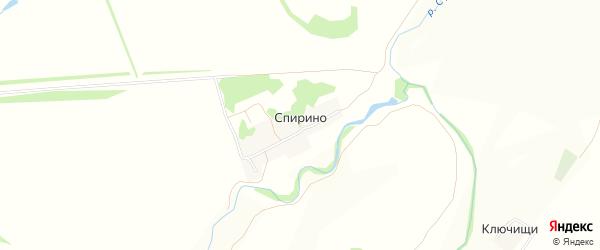 Карта деревни Спирино в Нижегородской области с улицами и номерами домов