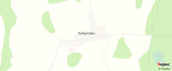 Карта деревни Хомутово города Семенова в Нижегородской области с улицами и номерами домов