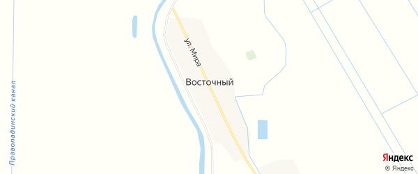 Карта Восточного хутора в Ставропольском крае с улицами и номерами домов