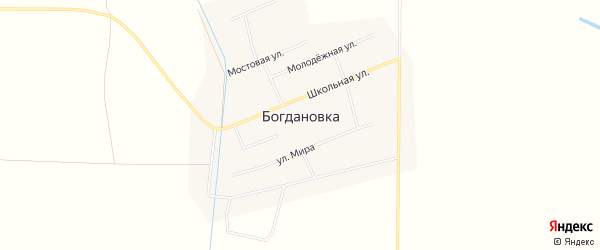 Карта села Богдановки в Ставропольском крае с улицами и номерами домов
