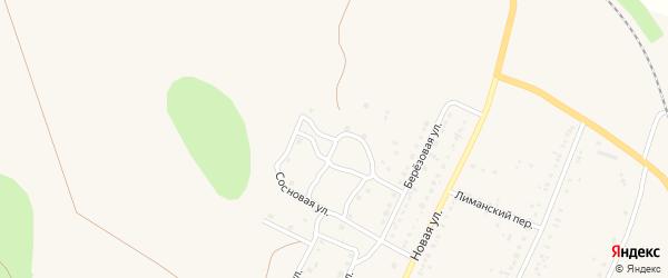 Кленовая улица на карте поселка Красного Яра Волгоградской области с номерами домов