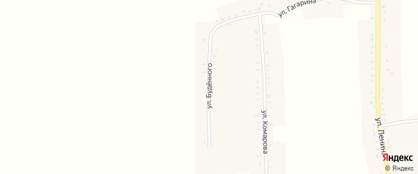 Улица Буденного на карте села Никитино Нижегородской области с номерами домов