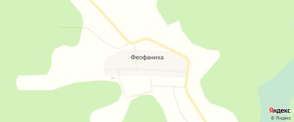 Карта деревни Феофанихи города Семенова в Нижегородской области с улицами и номерами домов