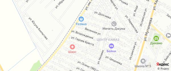 Улица Возрождения на карте территории Центрального округа с номерами домов