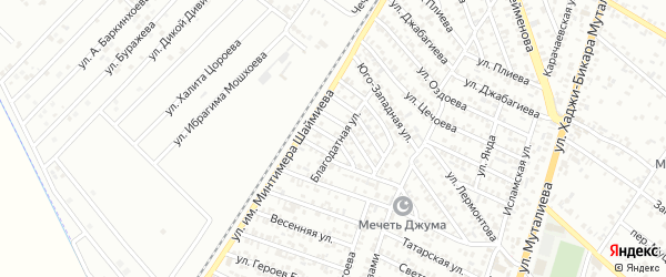 Переулок А.А.Долгиева на карте территории Центрального округа с номерами домов