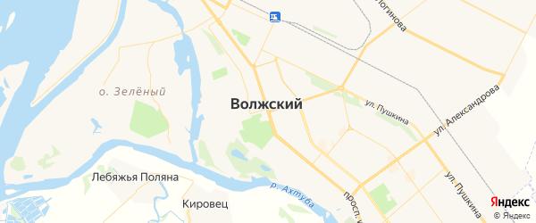 Карта Волжского с районами, улицами и номерами домов: Волжский на карте России