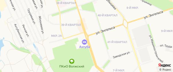 Территория СНТ Рассвет на карте Волжского с номерами домов
