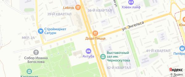 Саянская улица на карте Волжского с номерами домов