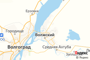 Карта г. Волжский Волгоградская область