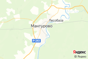 Карта г. Мантурово Костромская область