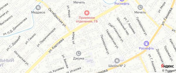 Улица Яндиева на карте территории Насыр-Кортский округ с номерами домов