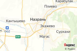 Карта г. Назрань Республика Ингушетия