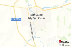 Карта пгт Большое Мурашкино Нижегородская область