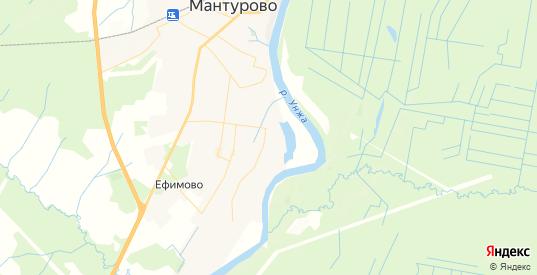 Карта Мантурово с улицами и домами подробная. Показать со спутника номера домов онлайн