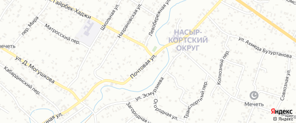 Почтовая улица на карте Назрани с номерами домов
