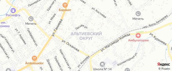 Улица Энгельса на карте территории Альтиевского округа с номерами домов