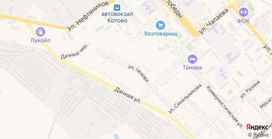 Улица Чехова в Котово с номерами домов на карте. Спутник и схема онлайн