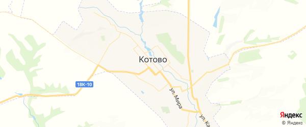 Карта Котово с районами, улицами и номерами домов