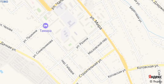 Улица Разина в Котово с номерами домов на карте. Спутник и схема онлайн