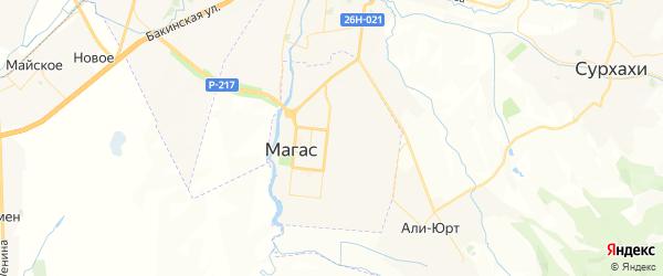 Карта Магаса с районами, улицами и номерами домов