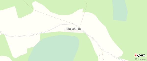 Карта деревни Макарихи города Семенова в Нижегородской области с улицами и номерами домов