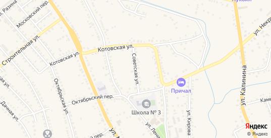 Советская улица в Котово с номерами домов на карте. Спутник и схема онлайн