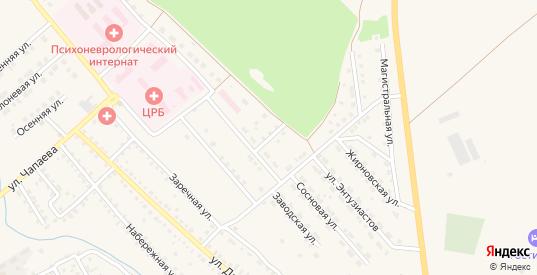 Сосновый переулок в Котово с номерами домов на карте. Спутник и схема онлайн