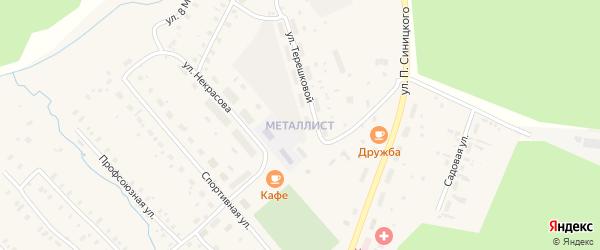 Улица Дзержинского на карте поселка Киземы с номерами домов