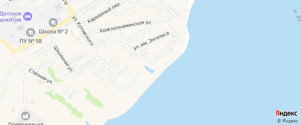 Пролетарский переулок на карте Дубовки с номерами домов