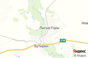 Карта пгт Лысые Горы Саратовская область