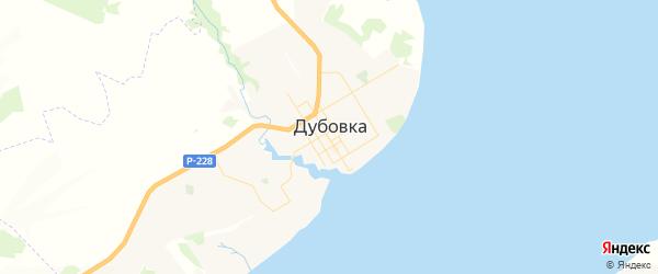 Карта Дубовки с районами, улицами и номерами домов