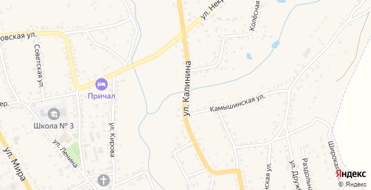 Улица Калинина в Котово с номерами домов на карте. Спутник и схема онлайн