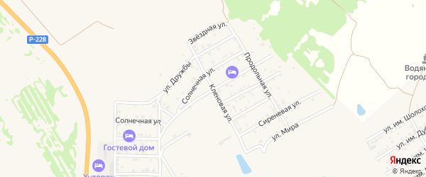 Липовая улица на карте Дубовки с номерами домов
