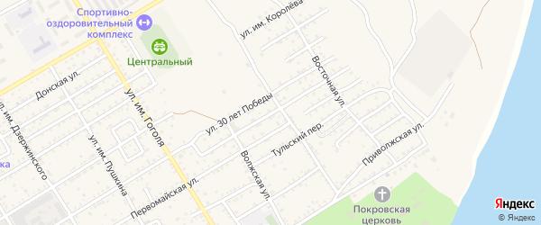 Исполкомовский переулок на карте Дубовки с номерами домов