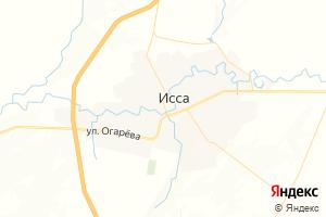Карта пгт Исса