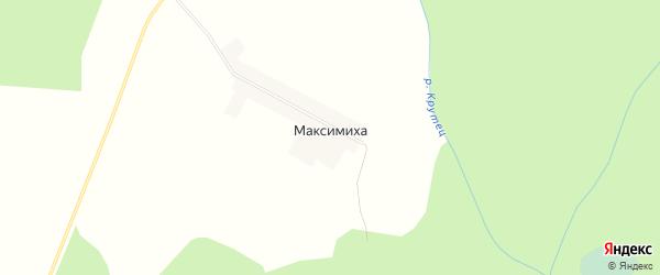 Карта деревни Максимихи города Семенова в Нижегородской области с улицами и номерами домов