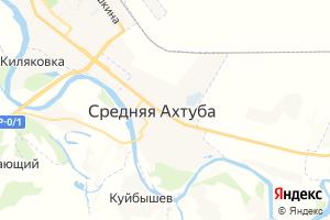 Карта пгт Средняя Ахтуба Волгоградская область