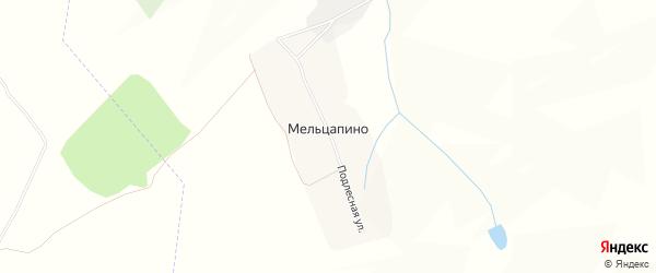 Карта села Мельцапино в Мордовии с улицами и номерами домов