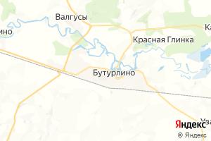 Карта пгт Бутурлино