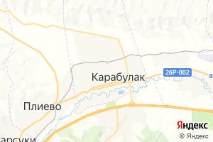 Карта г. Карабулак Республика Ингушетия
