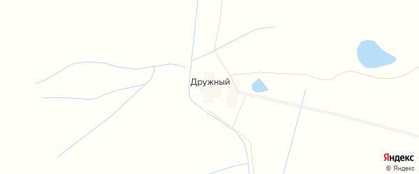 Карта Дружного поселка в Калмыкии с улицами и номерами домов