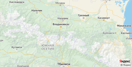 Карта Джейрахского района республики Ингушетия с городами и населенными пунктами