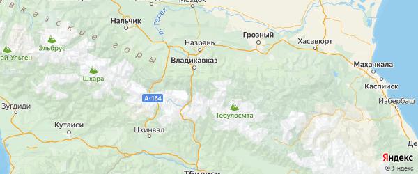 Карта Джейрахского района Республики Ингушетии с городами и населенными пунктами