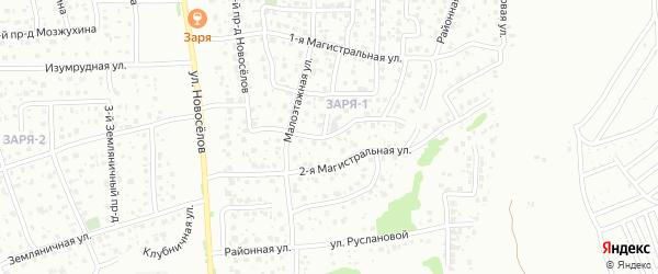 Малоэтажный 2-й проезд на карте Пензы с номерами домов