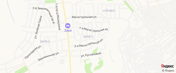 Карта поселка Индивидуальная Застройка Заря-1 города Пензы в Пензенской области с улицами и номерами домов