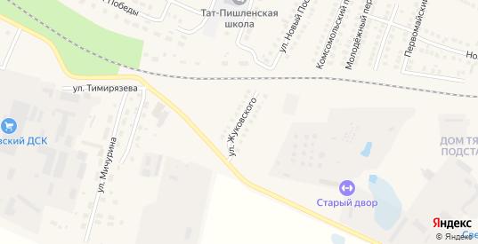 Улица Жуковского в Рузаевке с номерами домов на карте. Спутник и схема онлайн