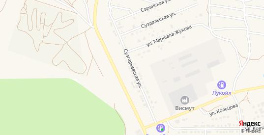 Сузгарьевская улица в Рузаевке с номерами домов на карте. Спутник и схема онлайн