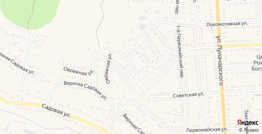 Закирпичный 4-й переулок в Рузаевке с номерами домов на карте. Спутник и схема онлайн